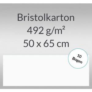 Bristolkarton 492 g/qm 50 x 65 cm