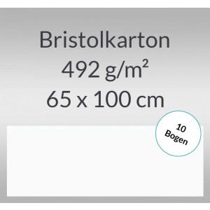 Bristolkarton 492 g/qm 65 x 100 cm