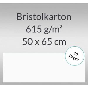 Bristolkarton 615 g/qm 50 x 65 cm