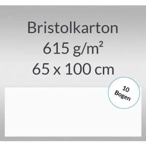 Bristolkarton 615 g/qm 65 x 100 cm