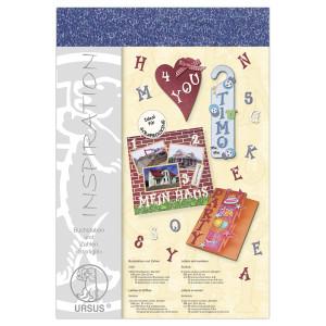 """Buchstaben und Zahlen """"Starlight"""" 23 x 33 cm dunkelblau - 106 Teile"""