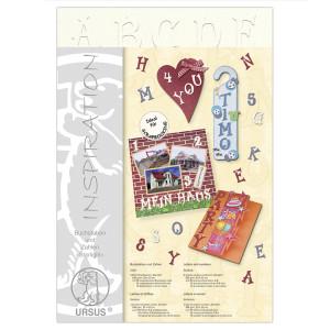 """Buchstaben und Zahlen """"Starlight"""" 23 x 33 cm weiß - 106 Teile"""