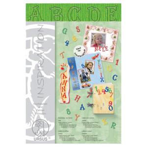 """Buchstaben und Zahlen """"Stream"""" 23 x 33 cm dunkelgrün - 106 Teile"""