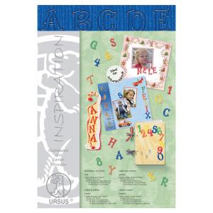 """Buchstaben und Zahlen """"Stream"""" 23 x 33 cm königsblau - 106 Teile"""