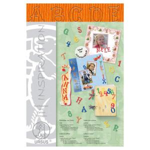 """Buchstaben und Zahlen """"Stream"""" 23 x 33 cm orange - 106 Teile"""