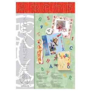 """Buchstaben und Zahlen """"Stream"""" 23 x 33 cm rubinrot - 106 Teile"""