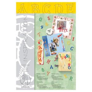"""Buchstaben und Zahlen """"Stream"""" 23 x 33 cm sonnengelb - 3 Blatt"""