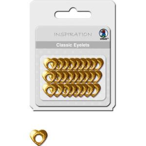Classic Eyelets 2-4 mm 12 Herzen 1 gold