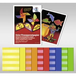 Color-Transparentpapier 20,5 x 33 cm - 10 Blatt sortiert