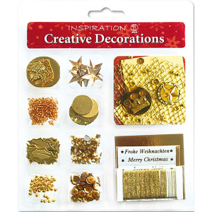 "Creative Decorations ""Christmas"" gold"