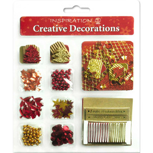 "Creative Decorations ""Christmas"" rot/gold"