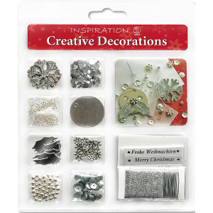 "Creative Decorations ""Christmas"" silber"