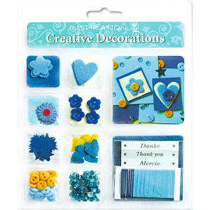 "Creative Decorations ""Everyday"" blau/gelb"