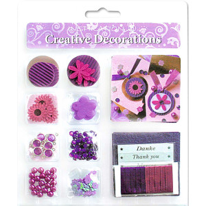 "Creative Decorations ""Everyday"" pink/lila"