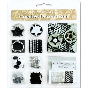 "Creative Decorations ""Everyday"" schwarz/silber 2"