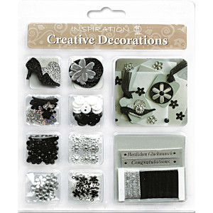 "Creative Decorations ""Everyday"" schwarz/silber"