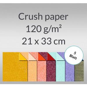 Crush paper 120 g/qm 21 x 33 cm - 5 Blatt