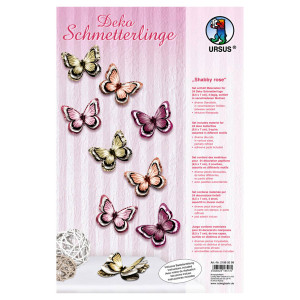 """Deko Schmetterlinge """"Shabby rose"""""""