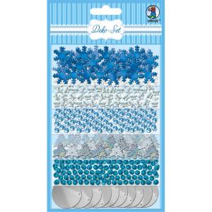 Deko-Set Accessoires blau/silber