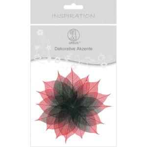 """Dekorative Akzente """"Blätter duo"""" schwarz/rot"""