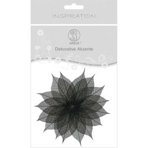 """Dekorative Akzente """"Blätter uni"""" schwarz"""