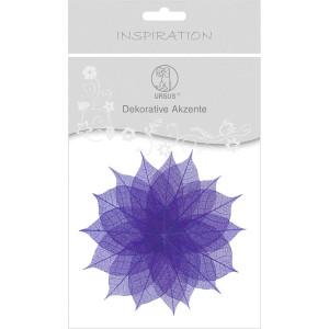 """Dekorative Akzente """"Blätter uni"""" violett"""