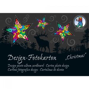 """Design-Fotokarton-Block """"Sonderedition Christmas"""" DIN A6 - 60 Blatt sortiert"""