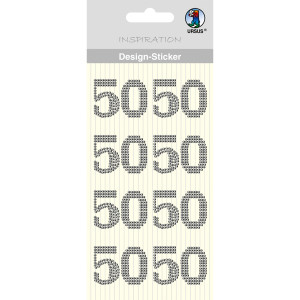 "Design Sticker ""50"" silber"