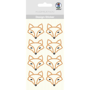 "Design Sticker ""Fuchs"" orange"