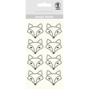 "Design Sticker ""Fuchs"" silber"