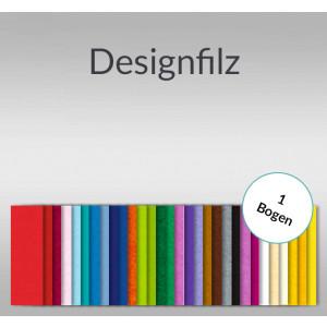Designfilz 3,3 mm 30 x 48 cm Normalfarben - 1 Bogen