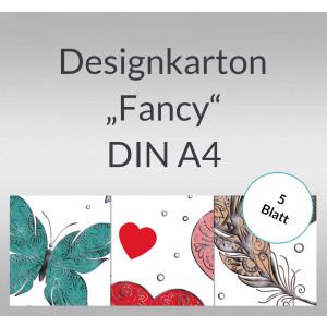"Designkarton ""Fancy"" DIN A4 - 5 Blatt"