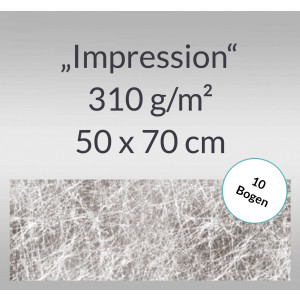 "Designkarton ""Impression"" 50 x 70 cm silber - 10 Bogen"