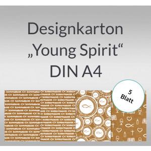 "Designkarton ""Young Spirit"" DIN A4 - 5 Blatt"