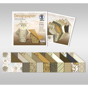 "Designpapier Faltblätter ""Amber"" 100 g/qm 10 x 10 cm - 50 Blatt"