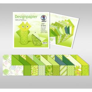"""Designpapier Faltblätter """"Jade"""" 100 g/qm 20 x 20 cm - 50 Blatt"""