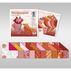 "Designpapier Faltblätter ""Ruby"" 100 g/qm 15 x 15 cm - 50 Blatt"