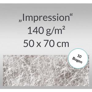 "Designpapier ""Impression"" 50 x 70 cm silber - 10 Bogen"