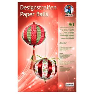 """Designstreifen Paper Balls """"Country"""""""