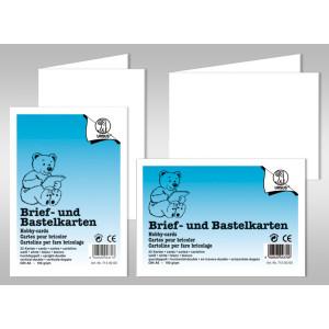 "Doppelkarte ""Dreams of paper"" quadratisch - 50 Stück"