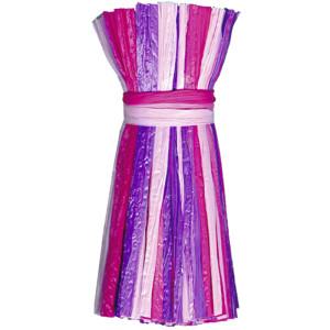 """Edelbast matt """"multicolor"""" rosa/pink/violett - 30 Meter"""