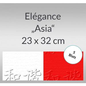 "Elegance ""Asia"" 220 g/qm 23 x 32 cm - 5 Blatt"