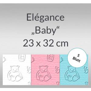 """Elegance """"Baby"""" 220 g/qm 23 x 32 cm - 5 Blatt"""