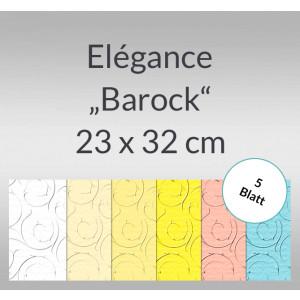 """Elegance """"Barock"""" 220 g/qm 23 x 32 cm - 5 Blatt"""