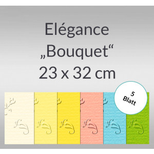 "Elegance ""Bouquet"" 220 g/qm 23 x 32 cm - 5 Blatt"
