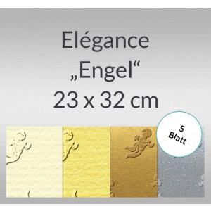 "Elegance ""Engel"" 220 g/qm 23 x 32 cm - 5 Blatt"