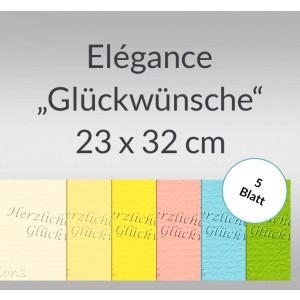 "Elegance ""Glückwünsche"" 220 g/qm 23 x 32 cm - 5 Blatt"