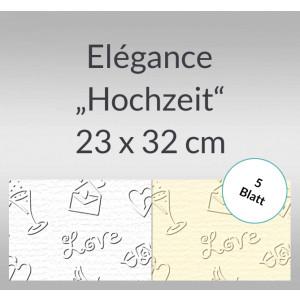"Elegance ""Hochzeit"" 220 g/qm 23 x 32 cm - 5 Blatt"