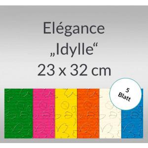 """Elegance """"Idylle"""" 220 g/qm 23 x 32 cm - 5 Blatt"""
