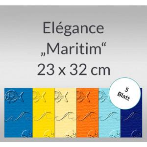 """Elegance """"Maritim"""" 220 g/qm 23 x 32 cm - 5 Blatt"""